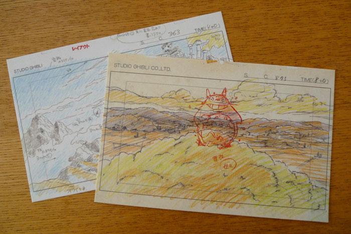 ジブリのレイアウト展 ポストカード