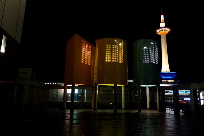 夜の京都駅
