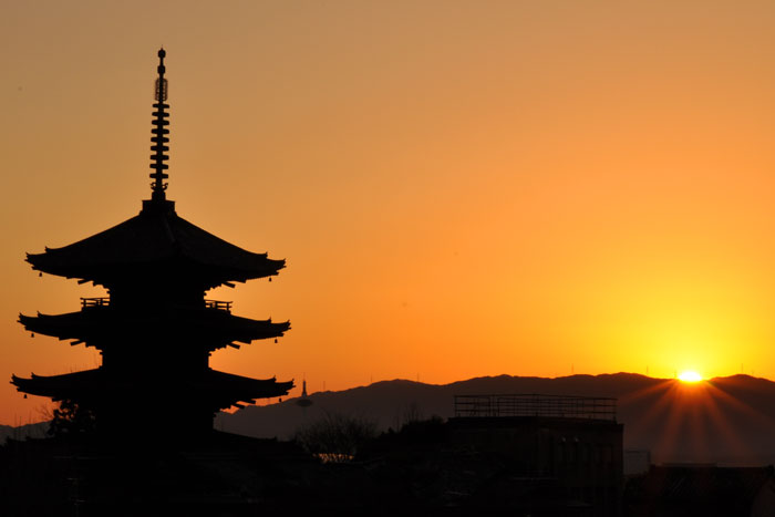 八坂の塔(夕方バージョン)