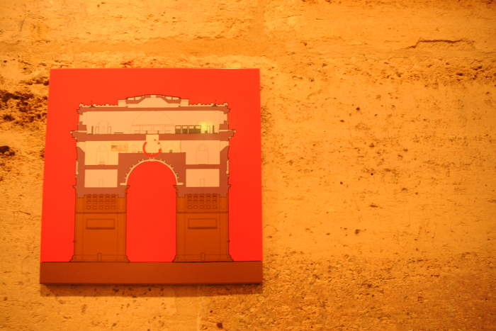 凱旋門の構造図