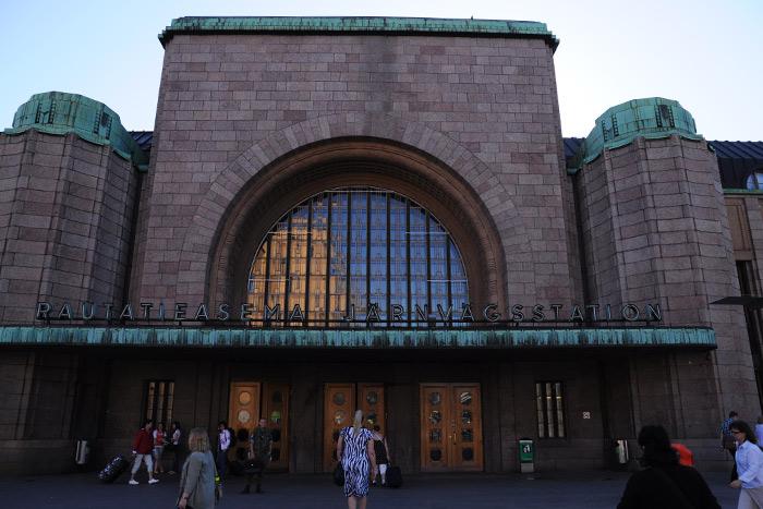 ヘルシンキ中央駅の外観