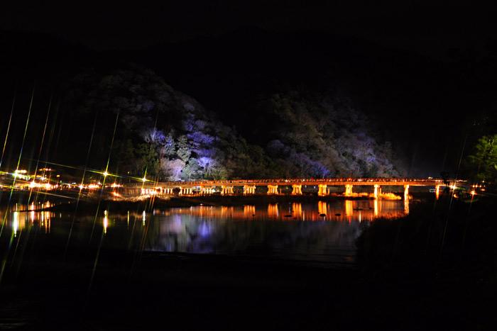 嵐山 花灯路 渡月橋