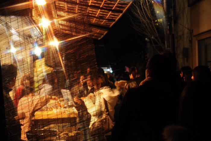 竹林の入り口のお店